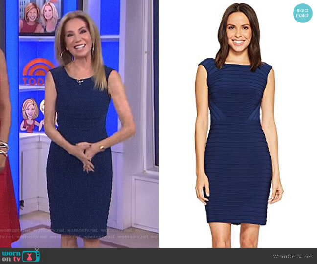 Matte Jersey Banded Dress by Adrianna Papell worn by Kathie Lee Gifford  on Today