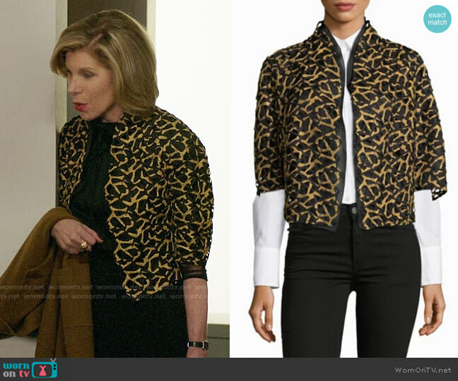 Akris Vasco Jacket worn by Christine Baranski on The Good Fight
