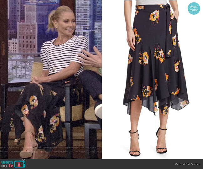 'Borden' Midi Skirt by ALC worn by Kelly Ripa  on Live with Kelly & Ryan