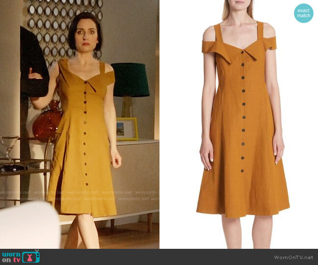 ALC Hudson Dress worn by Jennifer Short (Zoe Lister-Jones) on Life in Pieces