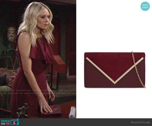 Aldo Varina Clutch worn by Melissa Ordway on The Young & the Restless