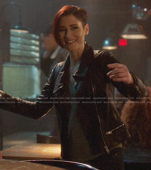 Alex's leather jacket on Supergirl