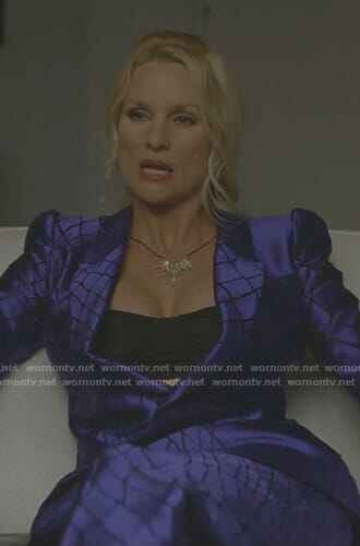 Alexis's purple suit on Dynasty