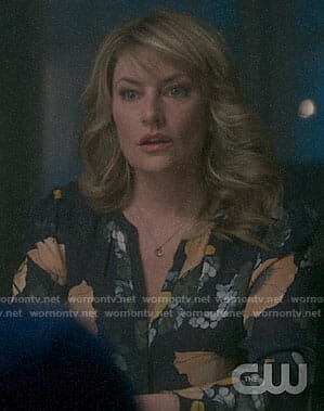 Alice's blue floral blouse on Riverdale