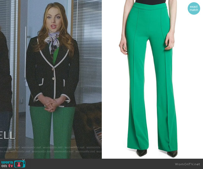 'Jalisa' Pants by Alice + Olivia worn by Elizabeth Gillies on Dynasty