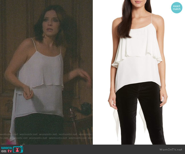 'Maribel' Camisole by Alice + Olivia worn by Jen Lilley on Days of our Lives