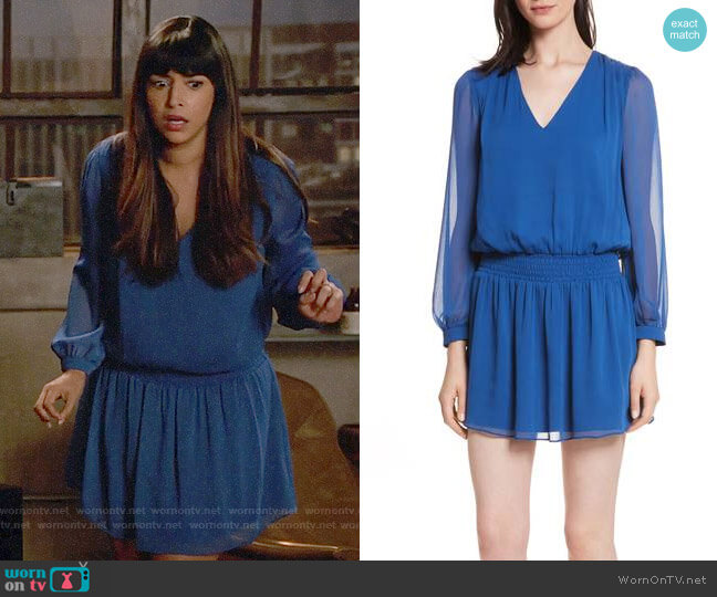 Alice + Olivia Adaline Dress worn by Hannah Simone on New Girl