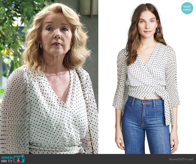 Alice + Olivia Bray Blouse worn by Melody Thomas-Scott on The Young & the Restless