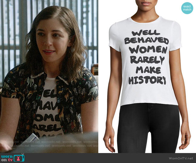 Alice + Olivia Cicely Tee worn by Annabelle Attanasio on Bull