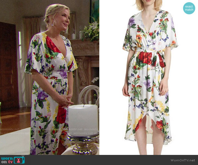 Alice + Olivia Clarine Dress worn by Katherine Kelly Lang on The Bold & the Beautiful