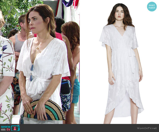 Alice + Olivia Clarine Dress worn by Amelia Heinle on The Young & the Restless