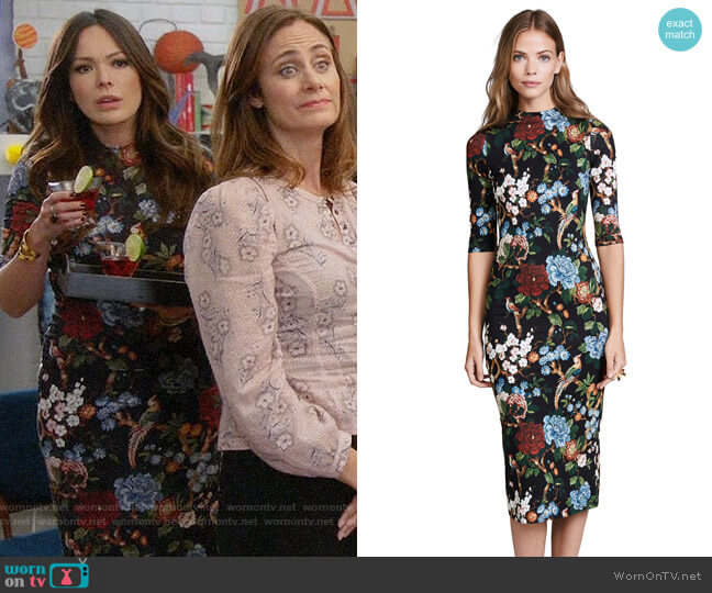 Alice + Olivia Delora Dress worn by Lindsay Price on Splitting Up Together
