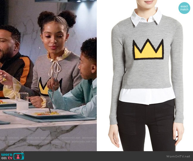 Alice + Olivia Nikia Sweater worn by Yara Shahidi on Blackish