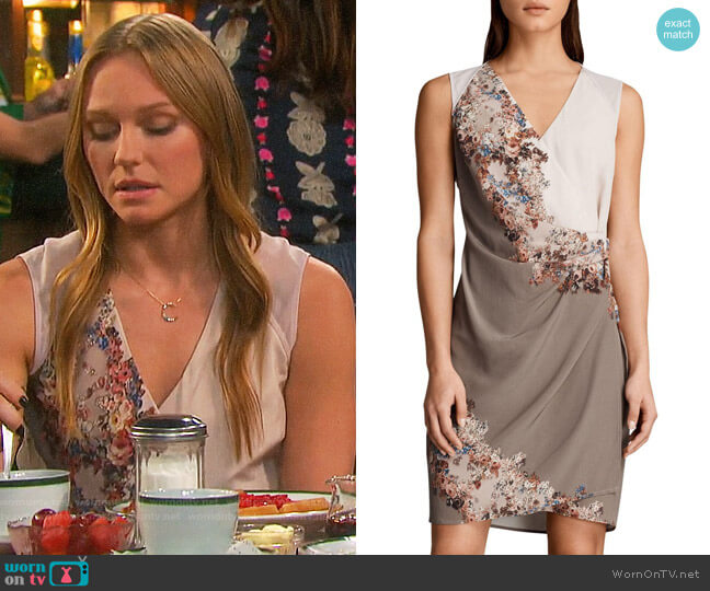All Saints Anika Floral Dress worn by Marci Miller on Days of our Lives
