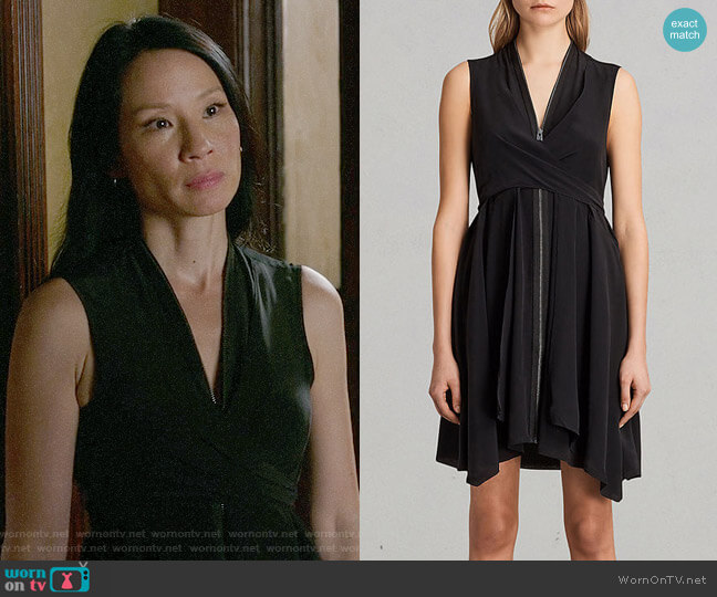 All Saints Jayda Dress worn by Lucy Liu on Elementary