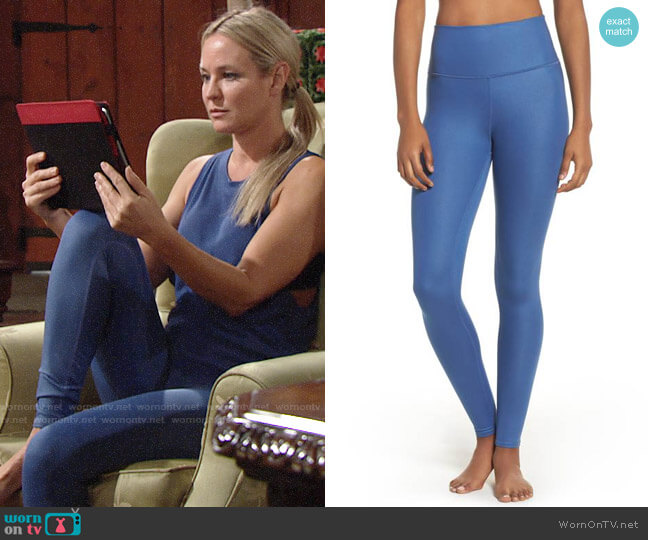 Alo Airbrush Leggings worn by Sharon Case on The Young & the Restless