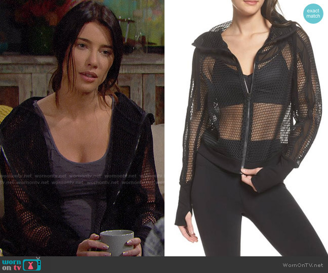 Alo Fortuna Jacket worn by Jacqueline MacInnes Wood on The Bold & the Beautiful