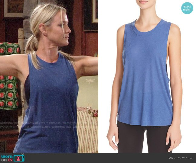 Alo Heat Wave Tank worn by Sharon Case on The Young & the Restless