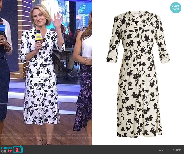 'Aimee' Shirtdress by Altuzarra worn by Amy Robach on Good Morning America