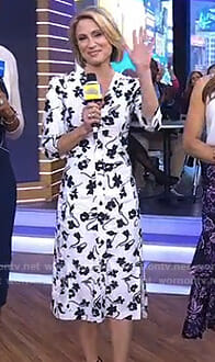 Amy's white floral shirtdress on Good Morning America