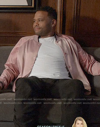 Andre's pink bomber jacket on Black-ish