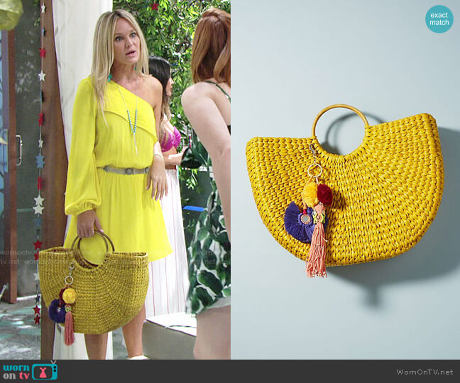 Anthropologie Goldilocks Tote worn by Sharon Case on The Young & the Restless