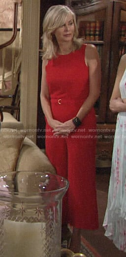 Ashley's red jumpsuit on The Young and the Restless