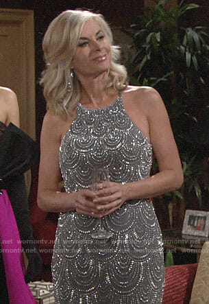 Ashley's beaded gown on The Young and the Restless