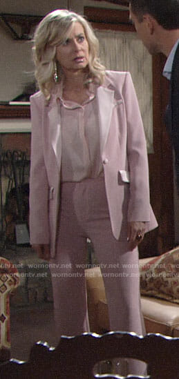 Ashley's pink suit on The Young and the Restless