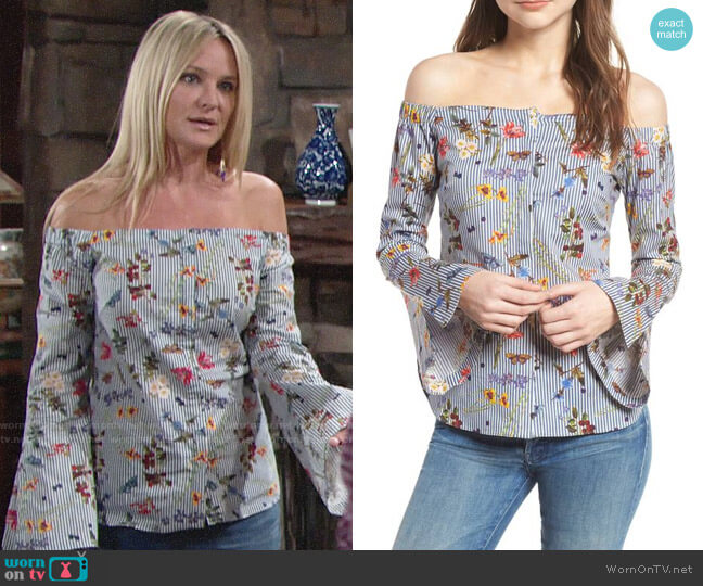 Bailey 44 Horticulture Top worn by Sharon Collins (Sharon Case) on The Young & the Restless