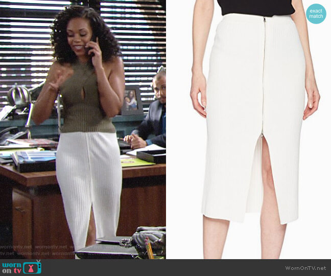 Bcbgmaxazria Braylee Skirt worn by Hilary Curtis (Mishael Morgan) on The Young & the Restless