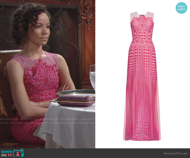 Bcbgmaxazria Elinor Gown worn by Mattie Ashby (Lexie Stevenson) on The Young & the Restless