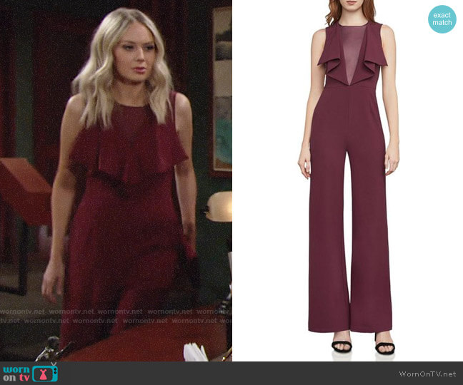 Bcbgmaxazria Raymee Jumpsuit worn by Abby Newman (Melissa Ordway) on The Young & the Restless