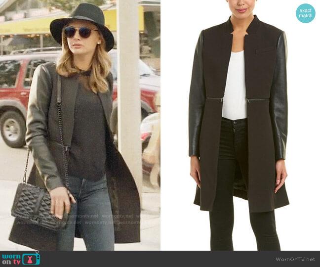 Bcbgmaxazria Zip Waist Coat worn by Megan Morrison (Christine Evangelista) on The Arrangement