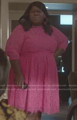 Becky's pink lace dress on Empire