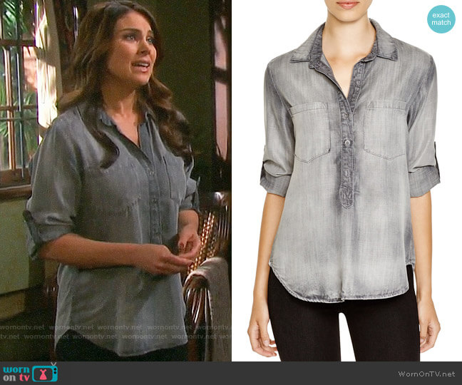 Bella Dahl Pullover Top worn by Nadia Bjorlin on Days of our Lives