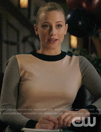 Betty's colorblock sweater on Riverdale