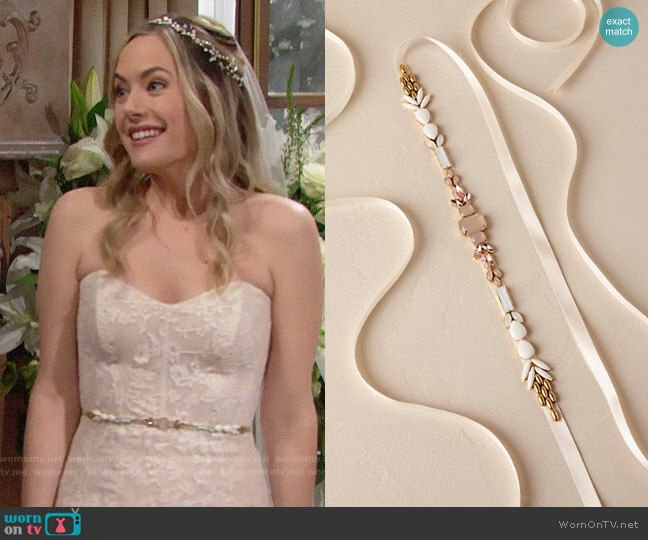 BHLDN Lux Sash worn by Annika Noelle on The Bold & the Beautiful