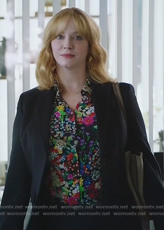 Beth's multicolored floral print blouse on Good Girls