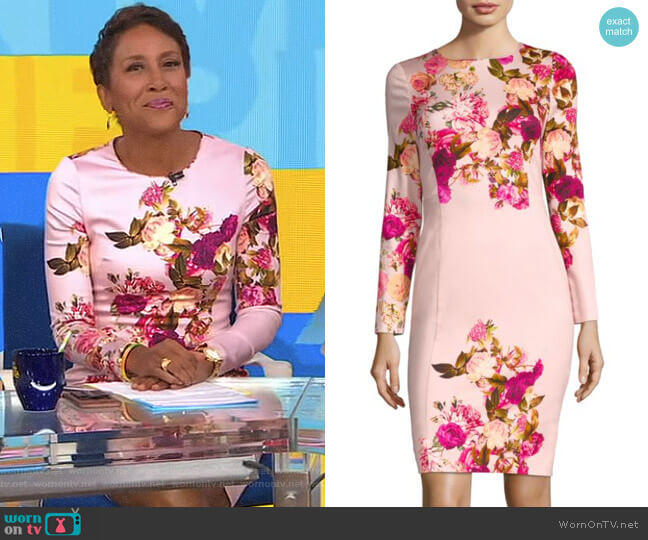'Lively' Sheath Dress by Black Halo worn by Robin Roberts  on Good Morning America