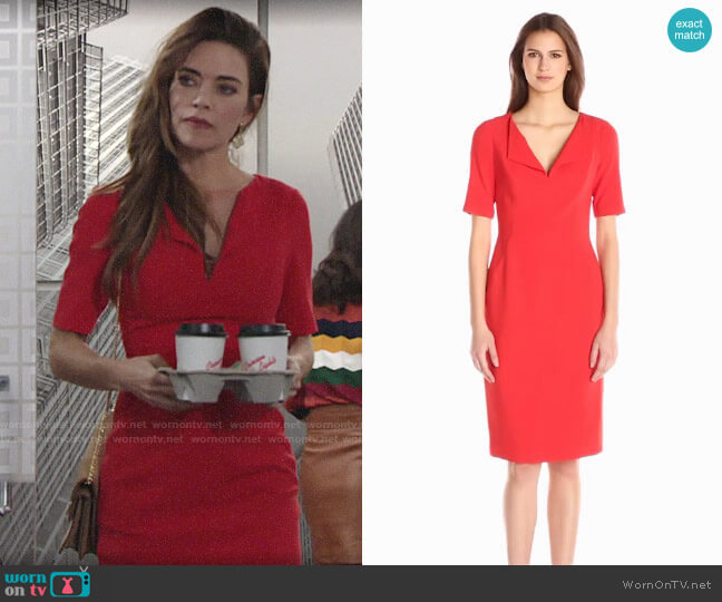 Black Halo Pescara Dress worn by Victoria Newman (Amelia Heinle) on The Young & the Restless