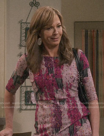 Bonnie's pink floral dress on Mom