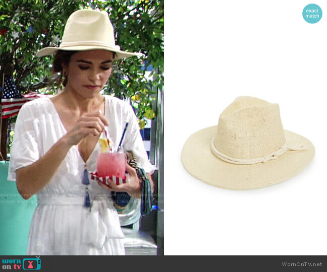 Brixton Ellington Straw Fedora worn by Amelia Heinle on The Young & the Restless