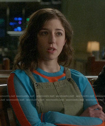 Cable's turquoise blue and orange sweater on Bull