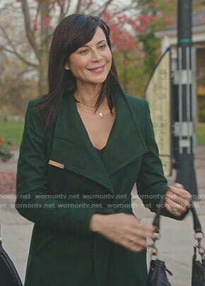 Cassie's green wrap coat on Good Witch