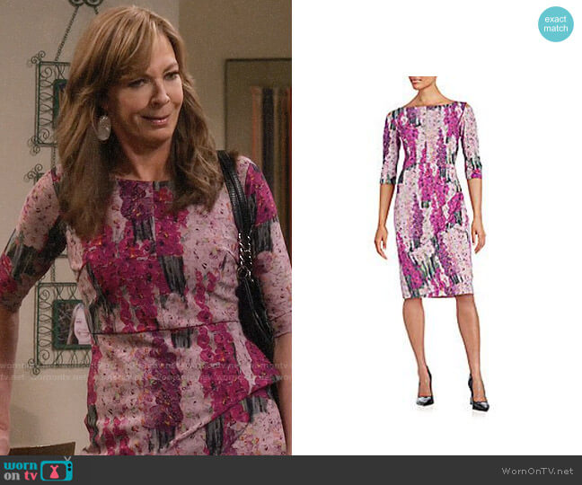Chiara Boni La Petite Robe Floral Dress worn by Bonnie Plunkett (Allison Janney) on Mom