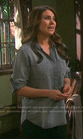 Chloe's grey top on Days of our Lives