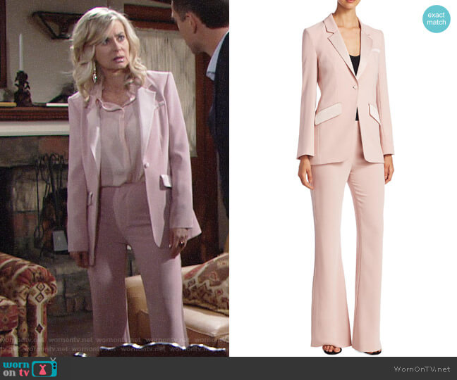 Cinq a Sept Serra Blazer and Alyssum Pants worn by Eileen Davidson on The Young & the Restless