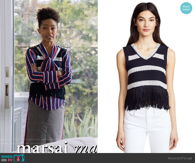 Club Monaco Olivina Sweater worn by Yara Shahidi on Blackish