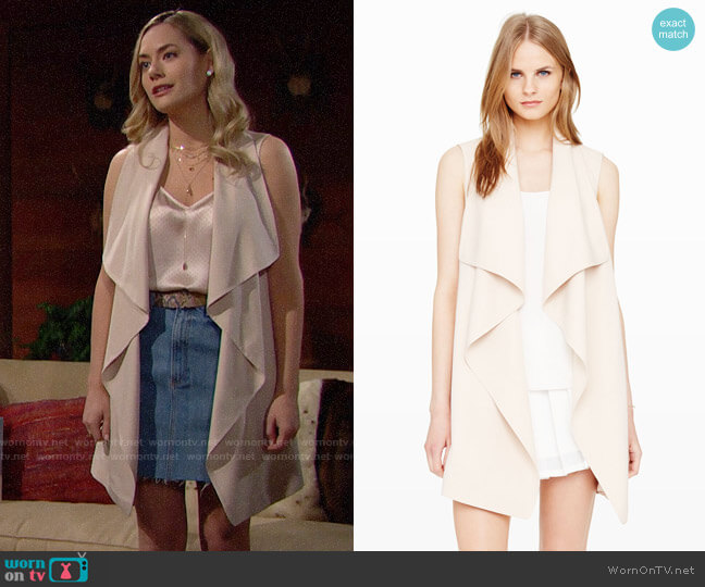 Club Monaco Salyie Vest worn by Annika Noelle on The Bold & the Beautiful
